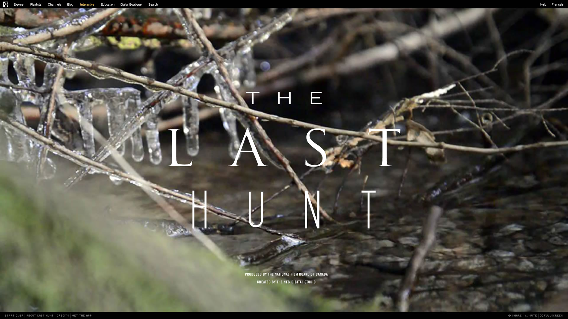 The Last Hunt - Title screen